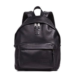 Eastpak Leather Black Ink Padded Pak'r